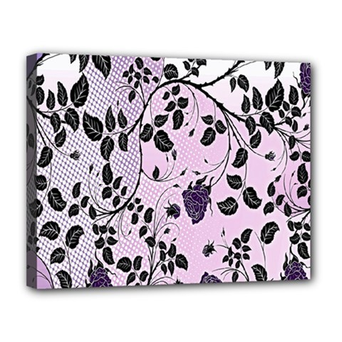 Floral Pattern Background Canvas 14  X 11  by Nexatart