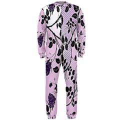 Floral Pattern Background Onepiece Jumpsuit (men)
