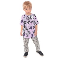 Floral Pattern Background Kids Raglan Tee