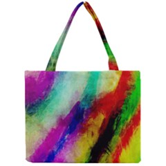 Colorful Abstract Paint Splats Background Mini Tote Bag