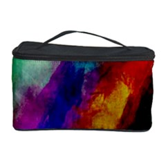 Colorful Abstract Paint Splats Background Cosmetic Storage Case by Nexatart