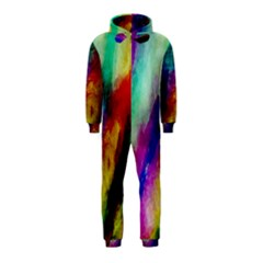 Colorful Abstract Paint Splats Background Hooded Jumpsuit (kids)