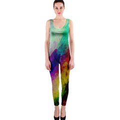 Colorful Abstract Paint Splats Background Onepiece Catsuit