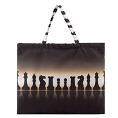 Chess Pieces Zipper Large Tote Bag by Valentinaart