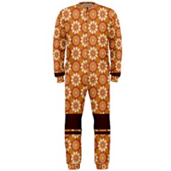 Floral Seamless Pattern Vector Onepiece Jumpsuit (men)