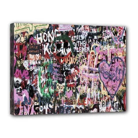 Graffiti Wall Pattern Background Canvas 16  X 12  by Nexatart