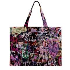 Graffiti Wall Pattern Background Mini Tote Bag by Nexatart