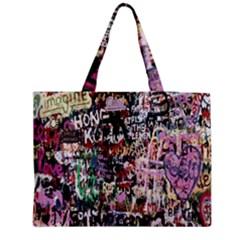 Graffiti Wall Pattern Background Medium Tote Bag by Nexatart