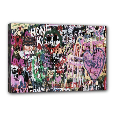 Graffiti Wall Pattern Background Canvas 18  X 12