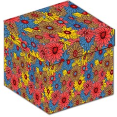 Background With Multi Color Floral Pattern Storage Stool 12