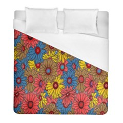 Background With Multi Color Floral Pattern Duvet Cover (full/ Double Size)