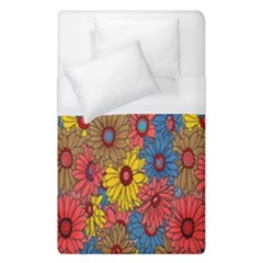 Background With Multi Color Floral Pattern Duvet Cover (single Size)
