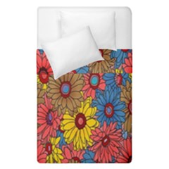 Background With Multi Color Floral Pattern Duvet Cover Double Side (single Size)