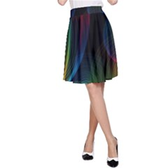 Abstract Rainbow Twirls A Line Skirt