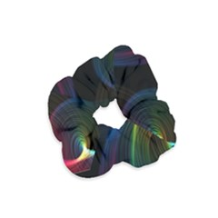 Abstract Rainbow Twirls Velvet Scrunchie