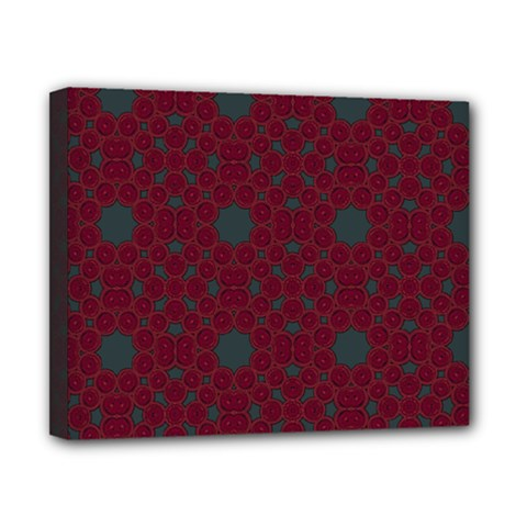 Blue Hot Pink Pattern With Woody Circles Canvas 10  X 8