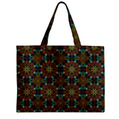 Seamless Abstract Peacock Feathers Abstract Pattern Mini Tote Bag
