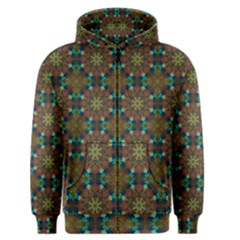 Seamless Abstract Peacock Feathers Abstract Pattern Men s Zipper Hoodie