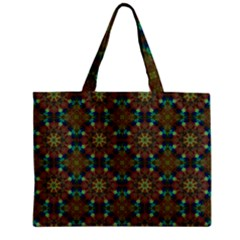 Seamless Abstract Peacock Feathers Abstract Pattern Zipper Mini Tote Bag