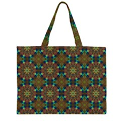 Seamless Abstract Peacock Feathers Abstract Pattern Zipper Large Tote Bag by Nexatart