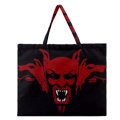 Dracula Zipper Large Tote Bag by Valentinaart