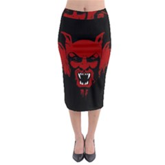 Dracula Midi Pencil Skirt by Valentinaart