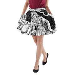 Vampire  A Line Pocket Skirt by Valentinaart