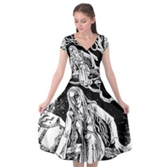 Vampire  Cap Sleeve Wrap Front Dress by Valentinaart