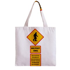 Bigfoot Zipper Grocery Tote Bag by Valentinaart
