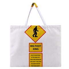 Bigfoot Zipper Large Tote Bag by Valentinaart