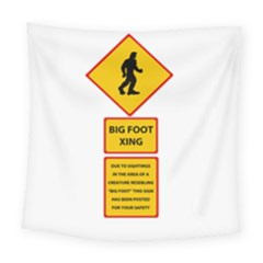 Bigfoot Square Tapestry (large) by Valentinaart