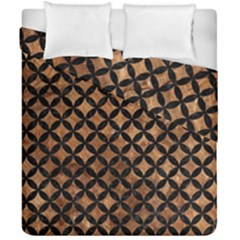 Circles3 Black Marble & Brown Stone (r) Duvet Cover Double Side (california King Size) by trendistuff