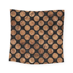 Circles2 Black Marble & Brown Stone Square Tapestry (small) by trendistuff