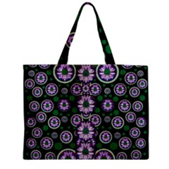 Fantasy Flower Forest  In Peacock Jungle Wood Medium Tote Bag by pepitasart