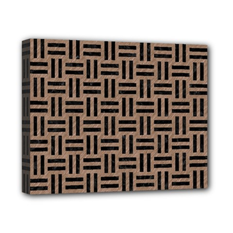 Woven1 Black Marble & Brown Colored Pencil (r) Canvas 10  X 8  (stretched) by trendistuff