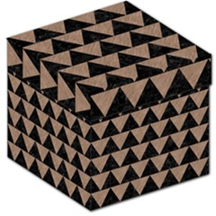 Triangle2 Black Marble & Brown Colored Pencil Storage Stool 12  by trendistuff