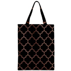 Tile1 Black Marble & Brown Colored Pencil Zipper Classic Tote Bag by trendistuff