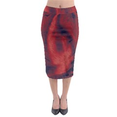 Blood Waterfall Midi Pencil Skirt by LokisStuffnMore
