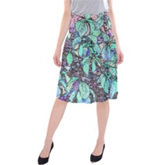 Colored Pencil Tree Leaves Drawing Midi Beach Skirt by LokisStuffnMore