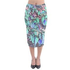 Colored Pencil Tree Leaves Drawing Midi Pencil Skirt by LokisStuffnMore