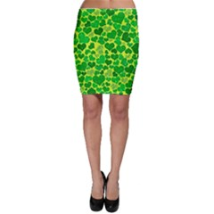 Sparkling Hearts, Green Bodycon Skirt by MoreColorsinLife