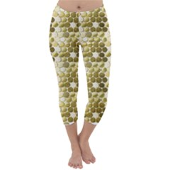 Cleopatras Gold Capri Winter Leggings