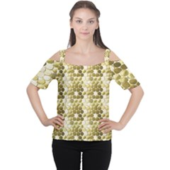 Cleopatras Gold Women s Cutout Shoulder Tee
