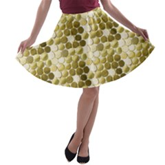 Cleopatras Gold A Line Skater Skirt by psweetsdesign