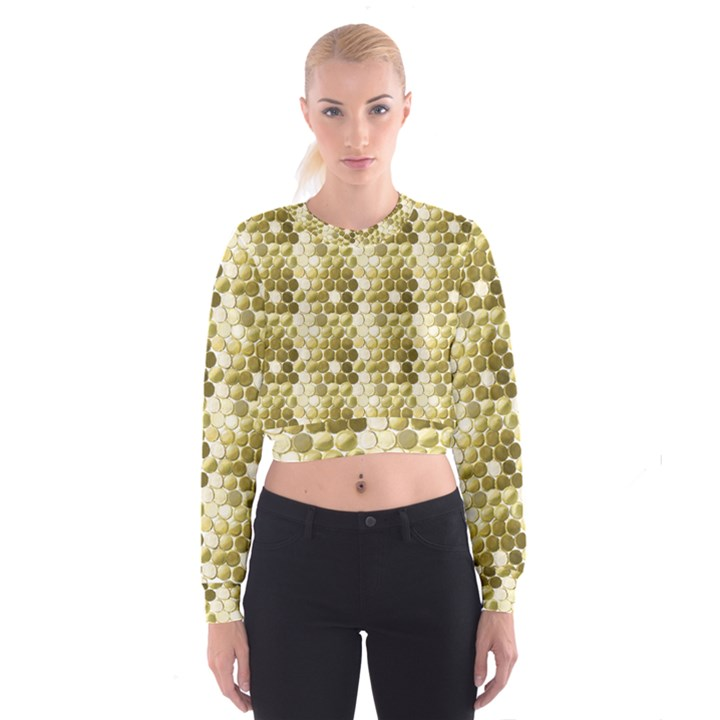 Cleopatras Gold Cropped Sweatshirt