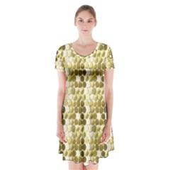 Cleopatras Gold Short Sleeve V Neck Flare Dress by psweetsdesign