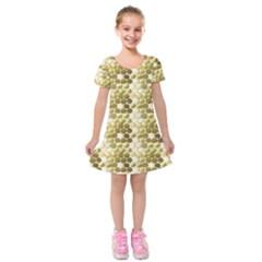 Cleopatras Gold Kids  Short Sleeve Velvet Dress