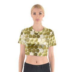 Cleopatras Gold Cotton Crop Top by psweetsdesign