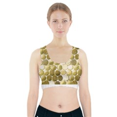 Cleopatras Gold Sports Bra With Pocket by psweetsdesign