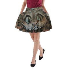 Cheshire Cat A Line Pocket Skirt by KAllan